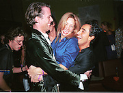 Rory Fleming, Victoria Schweizer and Max Burgios. Plum & Lucy Sykes 30th birthday. Lot 61,  550 West 21 St. NY.   4/12/99<br />© Copyright Photograph by Dafydd Jones 66 Stockwell Park Rd. London SW9 0DA Tel 020 7733 0108 www.dafjones.com