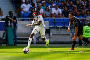 Traore Bertrand of Lyon and Lefort Jordan of Amiens during the French championship L1 football match between Olympique Lyonnais and Amiens on August 12th, 2018 at Groupama stadium in Decines Charpieu near Lyon, France - Photo Romain Biard / Isports / ProSportsImages / DPPI