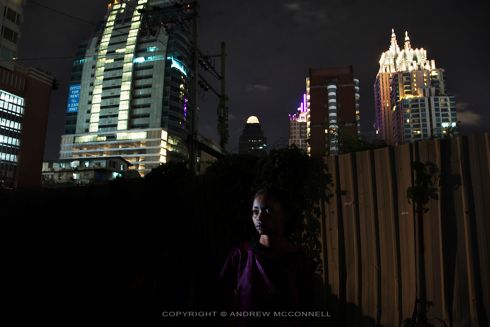 Congolese refugee Beatrice, 27, from South Kivu, pictured in Bangkok, Thailand.<br />  <br /> &quot;I found myself in danger because I had a problem with the Congolese army. I used to work with an association for human rights defence. The Congolese army and the rebels were raping women and the army kept accusing the rebels, but, in fact, the Congolese army were doing it as well. One day, in March 2010, the rebels came to the village, stole a lot of things and raped the women. When they left the Congolese army came and did the same. A man called me and informed of what had happened and the next day I went to the village, heard the story, and took the women that had been raped to the hospital. I wrote down a report about what had happened and we took the report to CTLVS (Territorial Commission for the Fight against Sexual Violence). Some days after the Congolese army came to the office and threatened us. That night three soldiers of the Congolese army came to my house, they put me in handcuffs and took me to somewhere in the area, I stayed there from 3am to 8pm the next day. The beat me and they said they were going to kill me. <br /> <br /> In April 2010, six Congolese soldiers came to my place and taped my mouth and immobilised me on the bed and told me that I had accused them of raping women and for that they were going to rape me.<br /> Then they raped me. All of them. I lost consciousness. They left me there. When I woke up I called my colleague and she told me she had been threatened as well. I was in agony, I couldn't even walk. At 5am she came to my place and took me back to my village by car. I went to a health centre because I couldn't walk on my own, my little sister and my parents were holding me up. A week later, I tried to call my colleague but her mobile wasn't ringing and so I decided to go to her place. I went there and I met her mother who told me that the Congolese army had attempted to kill her and she had to run away. <br /> <br /> On my way home there were two men following me. They called me