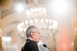 24.01.2018, Hofburg, Wien, Pyeongchang 2018, Vereidigung der Olympia-Mannschaft durch den Bundespräsidenten, im Bild Bundespräsident Alexander Van der Bellen // federal president of Austria Alexander Van der Bellen during the swearing-in of the Austrian National Olympic Committee for Pyeongchang 2018 at Hofburg in Vienna, Austria on 2018/01/24, EXPA Pictures © 2018 PhotoCredit: EXPA/ Michael Gruber