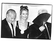 Versace, Claudia Schiffer, Karl Largerfeld at the Costume  institute, New York © Copyright Photograph by Dafydd Jones 66 Stockwell Park Rd. London SW9 0DA Tel 020 7733 0108 www.dafjones.com