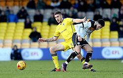 Ryan Sweeney of Bristol Rovers tackles Jerome Thomas of Port Vale - Mandatory by-line: Robbie Stephenson/JMP - 18/02/2017 - FOOTBALL - Vale Park - Stoke-on-Trent, England - Port Vale v Bristol Rovers - Sky Bet League One