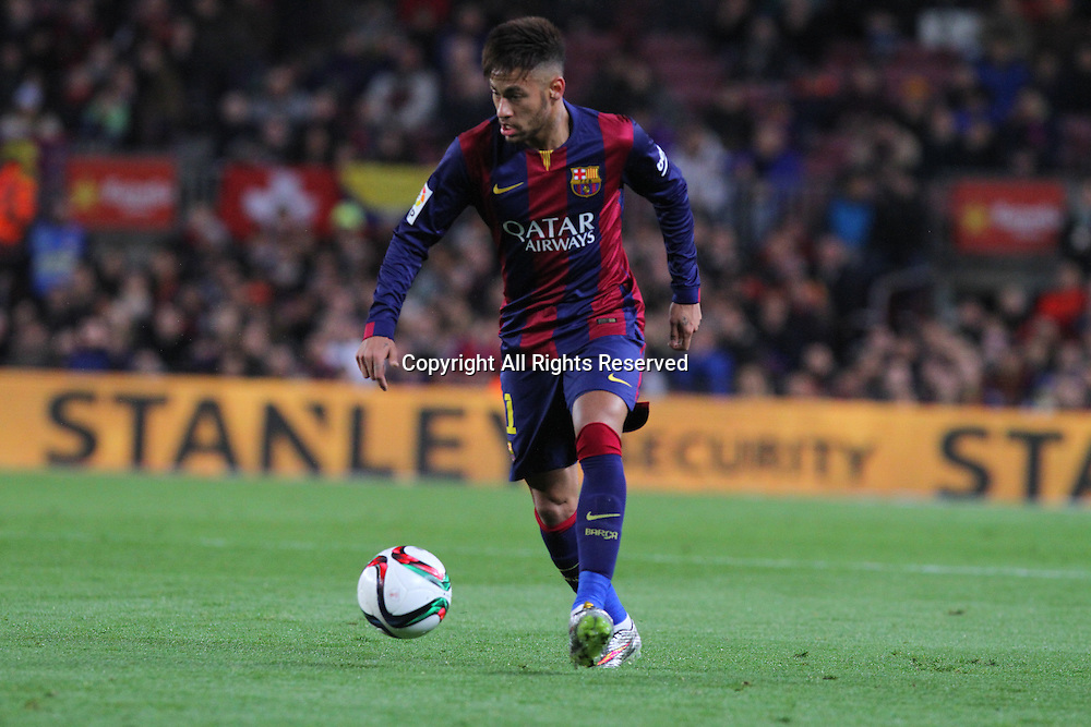 11.02.2015 Barcelona, Spain. Spanish Cup , Semi-final.  Neymar in action during game between FC Barcelona against Villareal at Camp Nou