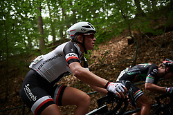 Julia Soek (NED) looks for the top of the climb at Boels Ladies Tour 2018 - Stage 2, a 137.9km road race in Nijmegen, Netherlands on August 29, 2018. Photo by Sean Robinson/velofocus.com
