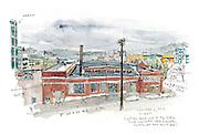 Seattle Sketcher South Lake Union view<br /> <br /> Gabriel Campanario / The Seattle Times