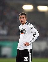 Fussball           EM Qualifikation        17.11.07 Deutschland - Zypern Lukas PODOLSKI (GER) erschoepft.