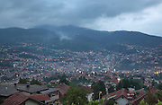 View over the city of Sarajevo, capital of Bosnia and Herzegovina. Founded by the Ottomans in 1461, the city sits in the Sarajevo Valley surrounded by the Dinaric Alps. Picture by Manuel Cohen