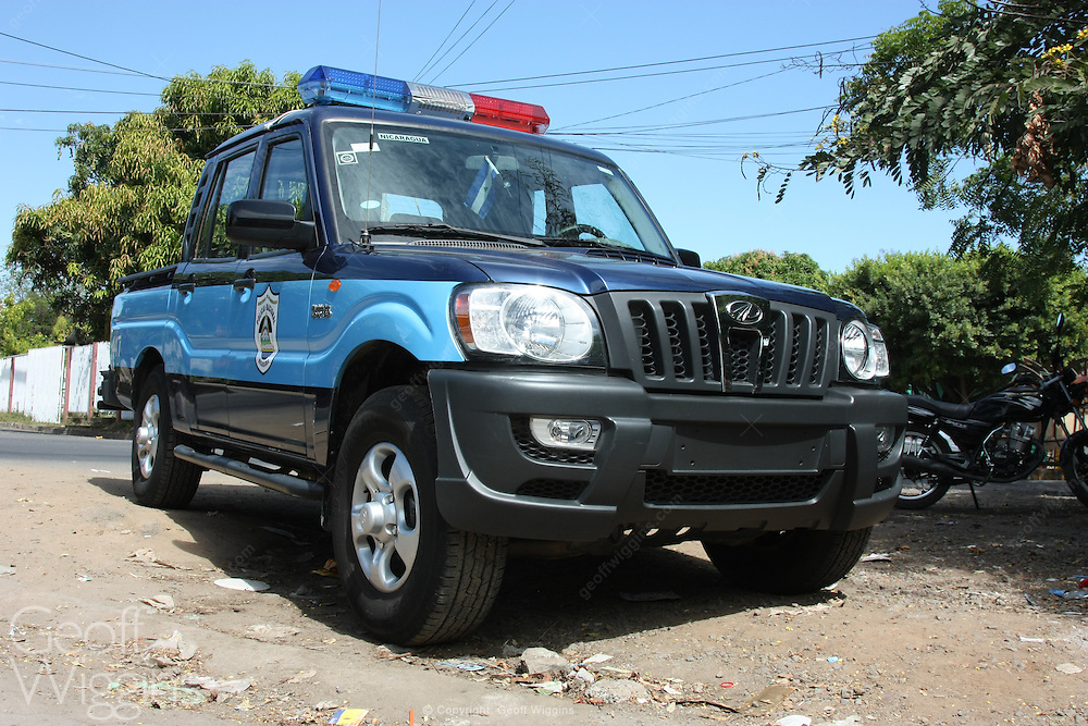 Nicaraguan Police patrol vehicle, Grenada, Nicaragua