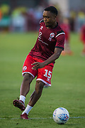 Ashley Nathaniel-George (Crawley Town) warming up prior to the EFL Cup match between Crawley Town and Norwich City at The People's Pension Stadium, Crawley, England on 27 August 2019.