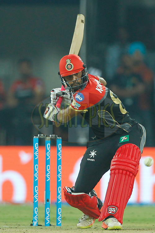 Stuart Binny of the Royal Challengers Bangalore bats during match 8 of the Vivo 2017 Indian Premier League between the Kings X1 Punjab and the Royal Challengers Bangalore held at the Holkar Cricket Stadium in Indore, India on the 10th April 2017<br /> <br /> Photo by Deepak Malik - IPL - Sportzpics