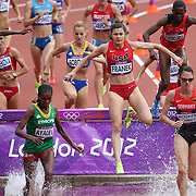 Bridget Franek, USA, in action during round one of the Women's 3000m Steeplechase at the Olympic Stadium at Olympic Park, during the London 2012 Olympic games. London, UK. 4th August 2012. Photo Tim Clayton