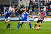 Exeter City Midfielder Arron Davies on the attack during the Sky Bet League 2 match between Carlisle United and Exeter City at Brunton Park, Carlisle, England on 17 October 2015. Photo by Craig McAllister.