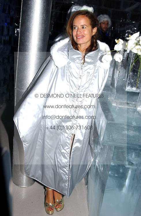 JADE JAGGER at a party to celebrate the opening of the Absolut Icebar London, 134 Heddon Street, London on 29th September 2005.<br /><br />NON EXCLUSIVE - WORLD RIGHTS