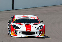 Alex Reed (GBR) / Joey Foster (GBR)  #51 Lanan Racing  Ginetta G55 GT4 British GT Championship at Rockingham, Corby, Northamptonshire, United Kingdom. May 01 2016. World Copyright Peter Taylor/PSP.