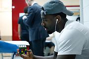 Spogliatoio Trento, EA7 EMPORIO ARMANI OLIMPIA MILANO vs DOLOMITI ENERGIA TRENTINO, gara 5 Finale Play off Lega Basket Serie A 2017/2018, Mediolanum Forum, Assago (MI) 13 giugno 2018 - FOTO: Bertani/Ciamillo