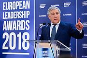 European Leadership Awards 2018.<br /> Antonio TAJANI, EP President