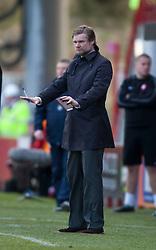 Steven Pressley, Falkirk manager..half time : Hamilton v Falkirk, Scottish Cup quarter-final, Saturday, 2nd March 2013..©Michael Schofield.