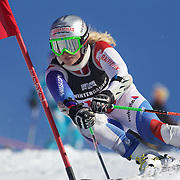 Denise Feierabend, Switzerland, in action during the Women's Giant Slalom competition at Coronet Peak, New Zealand during the Winter Games. Queenstown, New Zealand, 23rd August 2011. Photo Tim Clayton