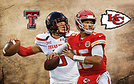 Patrick Mahomes Kansas City Chiefs and Texas Tech Red Raiders.