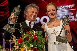 21-12-2016 NED: Sportgala NOC * NSF 2016, Amsterdam<br /> In de Amsterdamse RAI vindt het traditionele NOC NSF Sportgala weer plaats / De winnaars op het podium, met Jan Lammers en Sanne Wevers tijdens het NOC*NSF Sportgala