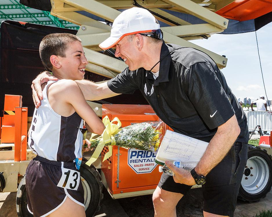 adidas Grand Prix Diamond League Track & Field: Boys Youth Mile, Jonah Gorevic wins