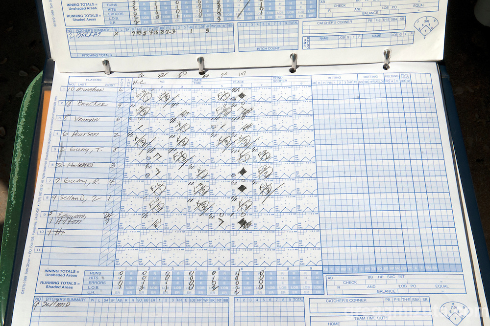 Scorecard Vale Vikings vs Horizon Christian Hawks (Horizon Christian lineup) in the 3A Oregon State Baseball Championships semifinals game on May 31, 2011 at Cammann Field, Vale, OR.