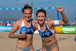 25-08-2019 NED: DELA NK Beach Volleyball, Scheveningen<br /> Last day NK Beachvolleyball / (L-R) Marloes Wesselink, Sophie van Gestel