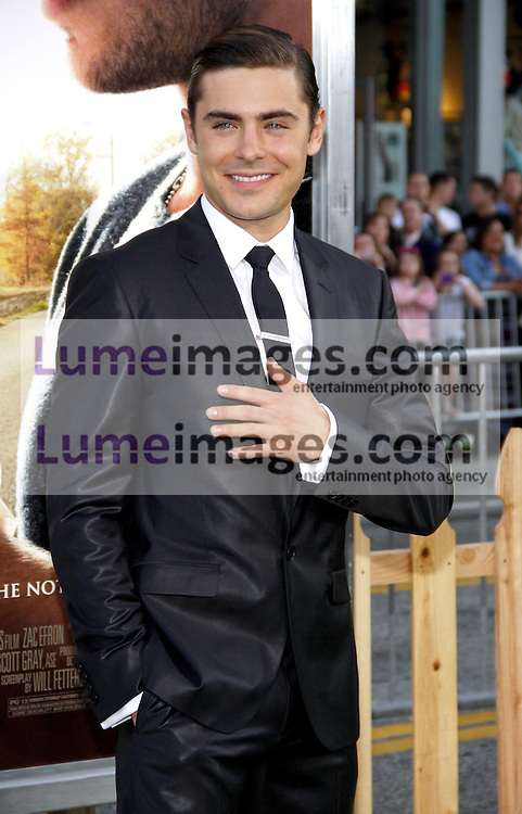UNITED STATES, HOLLYWOOD, APRIL 16, 2012: Zac Efron at the Los Angeles premiere of 'The Lucky One' held at the Grauman's Chinese Theater in Hollywood, USA on April 16, 2012.