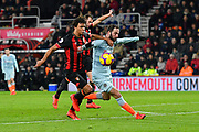 Gonzalo Higuain (9) of Chelsea is offside as he tries to get the better of Nathan Ake (5) of AFC Bournemouth during the Premier League match between Bournemouth and Chelsea at the Vitality Stadium, Bournemouth, England on 30 January 2019.