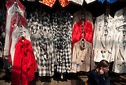 Jackets for sale at the twice weekly market in the town of Cieszyn, Silesia, Poland.