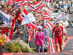 07.07.2019, Klagenfurt, AUT, Ironman Austria, Laufen, im Bild David Plese (SLO, 3. Platz) // third placed David Plese (SLO) during the run competition of the Ironman Austria in Klagenfurt, Austria on 2019/07/07. EXPA Pictures © 2019, PhotoCredit: EXPA/ Johann Groder