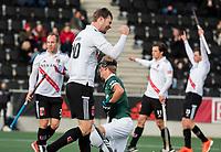 AMSTELVEEN - Mirco Pruyser (Adam) na de 7-1 en het eindsignaal na  de hoofdklasse hockeywedstrijd Amsterdam-HC Rotterdam (7-1).    COPYRIGHT KOEN SUYK