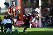 AFC Bournemouth's midfielder Matt Ritchie scores Bournemouth's first goal during the Barclays Premier League match between Bournemouth and Tottenham Hotspur at the Goldsands Stadium, Bournemouth, England on 25 October 2015. Photo by Mark Davies.