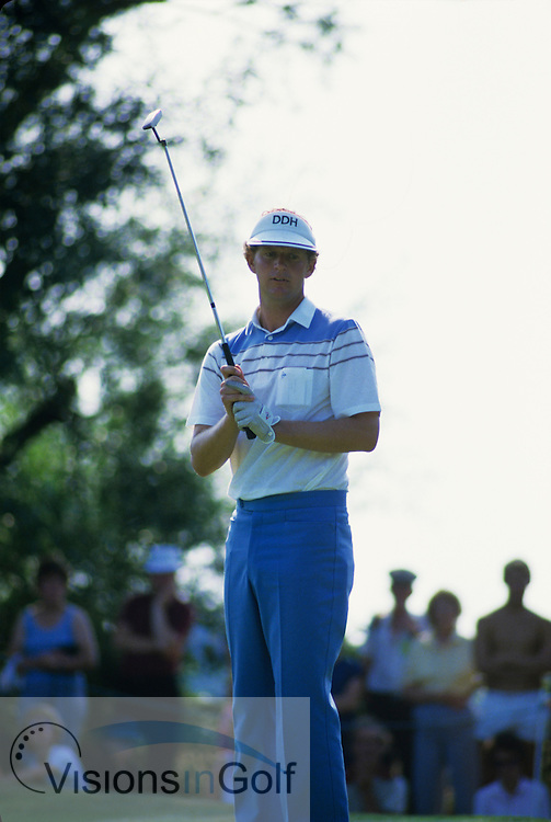 Sandy Lyle 1984 Benson & Hedges International, Fulford / Photo Mark Newcombe