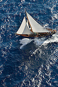 "France Saint - Tropez October 2013, Classic yachts racing at the Voiles de Saint - Tropez<br /> <br /> C,17,THE BLUE PETER,""19,57"",COTRE BERMUDIEN/1930,ALFRED MYLNE"
