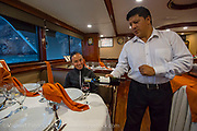 Dining area of the Galapagos Sky Dive Vessel.