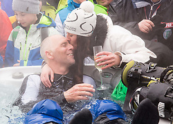 Ales Vidic, Race Director and Head of Race Committee celebrates in jacuzzi after the end of FIS Alpine Ski World Cup 55th Vitranc Cup 2016, on March 6, 2016 in Podkoren, Kranjska Gora, Slovenia. Photo by Vid Ponikvar / Sportida