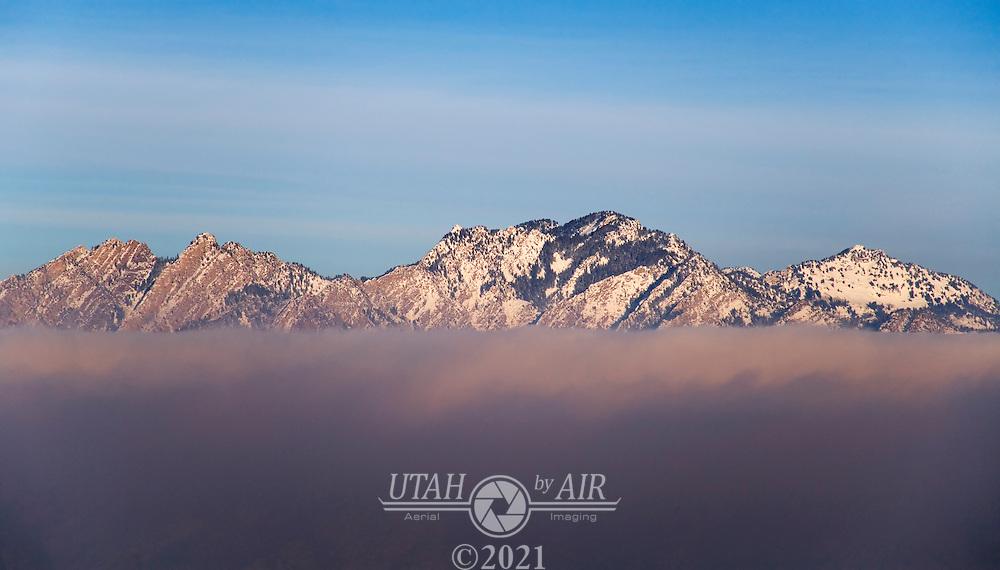 Salt Lake Mountains during an inversion