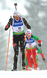 Simone Hauswald (GER) at Women 15 km Individual at E.ON Ruhrgas IBU World Cup Biathlon in Hochfilzen (replacement Pokljuka), on December 18, 2008, in Hochfilzen, Austria. (Photo by Vid Ponikvar / Sportida)