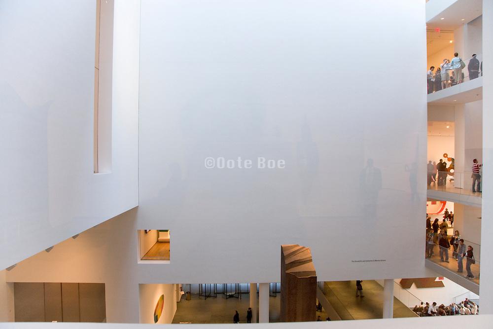 interior of Museum of modern Art in New York City