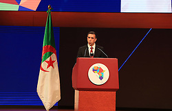 December 3, 2016 - Algiers, Argentina - Algerian businessman and president of FCE, Ali Haddad, delivers a speech during the opening ceremony of the the African Investment and Business Forum, on December 3, 2016 in Algiers, Algeria. More than 2,000 delegates from across Africa attended the African Investment and Business Forum, aimed at boosting the continent's economic potential. (Credit Image: © Billal Bensalem/NurPhoto via ZUMA Press)