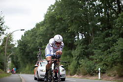 Ellen van Dijk (NED) of Team Netherlands tackles the first climb of Stage 4 of the Lotto Thuringen Ladies Tour - a 18.7 km individual time trial, starting and finishing in Schmolln on July 16, 2017, in Thuringen, Germany. (Photo by Balint Hamvas/Velofocus.com)