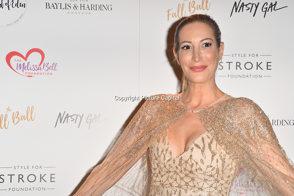 Laura Pradelska attends gala dinner and concert to raise money and awareness for the Melissa Bell Foundation and Style For Stroke Foundation. 14 October 2018.