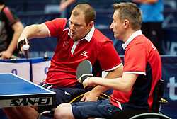 LAMIRAULT Fabien and MOLLIENS Stephane (FRA) during Team events at Day 4 of 16th Slovenia Open - Thermana Lasko 2019 Table Tennis for the Disabled, on May 11, 2019, in Dvorana Tri Lilije, Lasko, Slovenia. Photo by Vid Ponikvar / Sportida