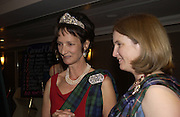 Iona Duchess of argyll and Lady Caroline Primrose, The Royal Caledonian Ball 2004. Grosvenor House, 21 May 2004. ONE TIME USE ONLY - DO NOT ARCHIVE  © Copyright Photograph by Dafydd Jones 66 Stockwell Park Rd. London SW9 0DA Tel 020 7733 0108 www.dafjones.com