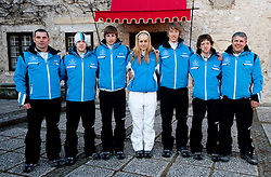 Official photo of  Slovenia Biathlon Ski team for European Youth Olympic Festival (EYOF) in Liberec (CZE) at official presentation, on February  9, 2011 at Bled Castle, Slovenia. (Photo By Vid Ponikvar / Sportida.com)