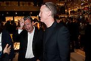 Poju Zabludowicz; Michael Landy, Louis Vuitton openingof New Bond Street Maison. London. 25 May 2010. -DO NOT ARCHIVE-© Copyright Photograph by Dafydd Jones. 248 Clapham Rd. London SW9 0PZ. Tel 0207 820 0771. www.dafjones.com.