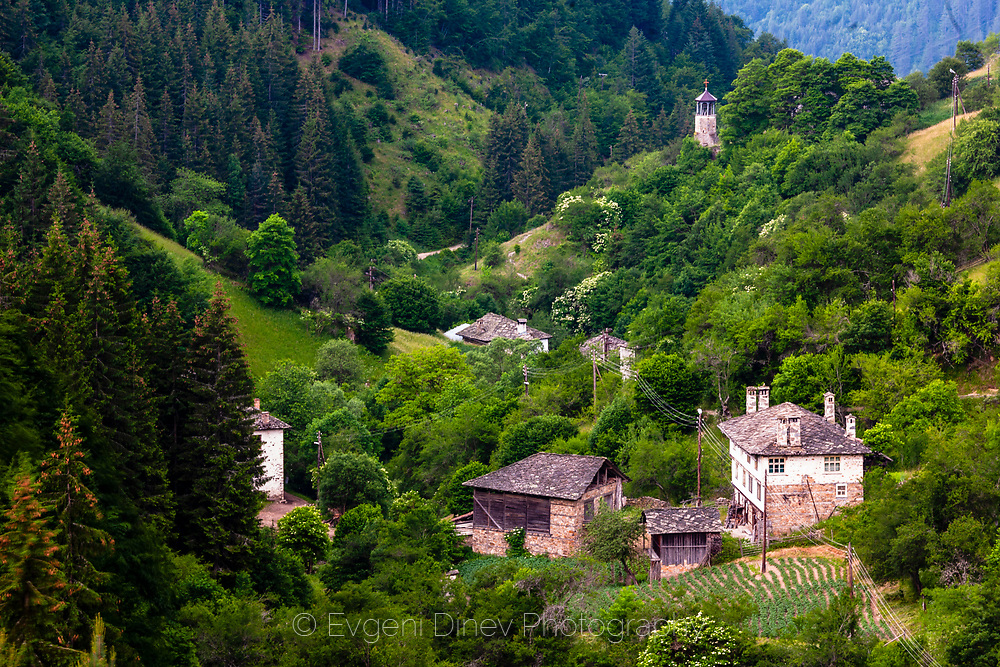 Small Bulgarian village in Rhodope Mountains