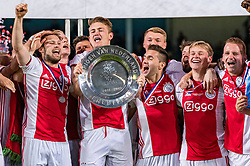 15-05-2019 NED: De Graafschap - Ajax, Doetinchem<br /> Round 34 / It wasn't really exciting anymore, but after the match against De Graafschap (1-4) it is official: Ajax is champion of the Netherlands / Daley Blind #17 of Ajax, Matthijs de Ligt #4 of Ajax, Dusan Tadic #10 of Ajax, Frenkie de Jong #21 of Ajax