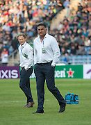 Highlanders Head Coach JAMIE JOSEPH (c) before the Natixis Cup rugby match between French team Racing 92 and New Zealand team Otago Highlanders at Sui San Wan Stadium in Hong Kong
